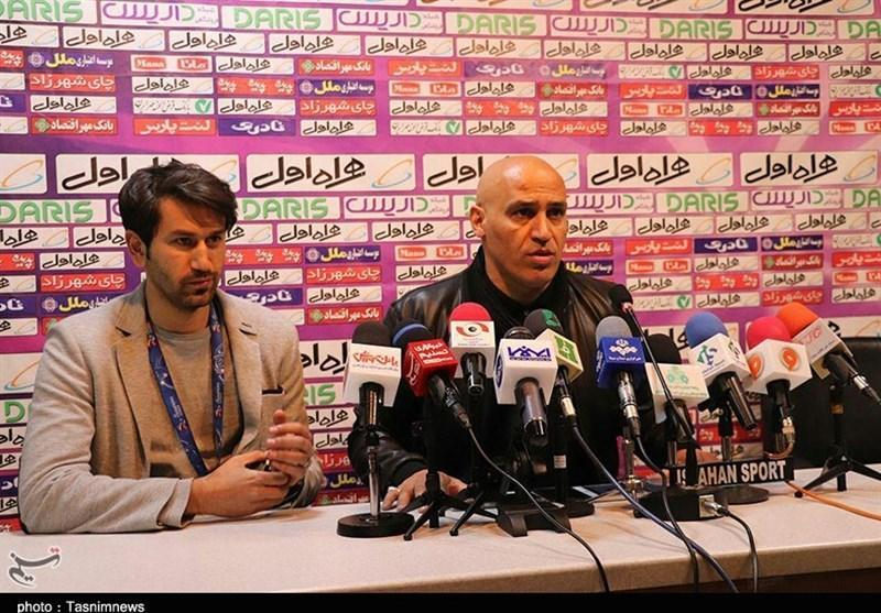اصفهان، منصوریان: فکر نمی کردم تراکتورسازی ما را سورپرایز کند، با استرس وارد زمین شدیم