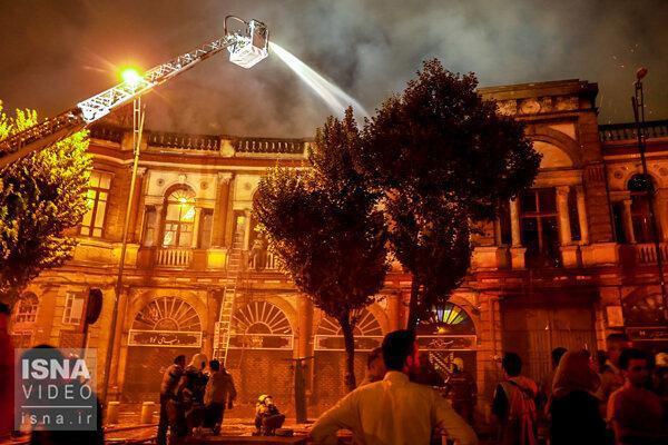 چه چیزی در آتش سوزی میدان حسن آباد سوخت؟