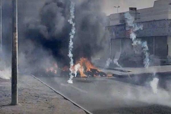 یورش وحشیانه نظامیان آل خلیفه به انقلابیون بحرینی