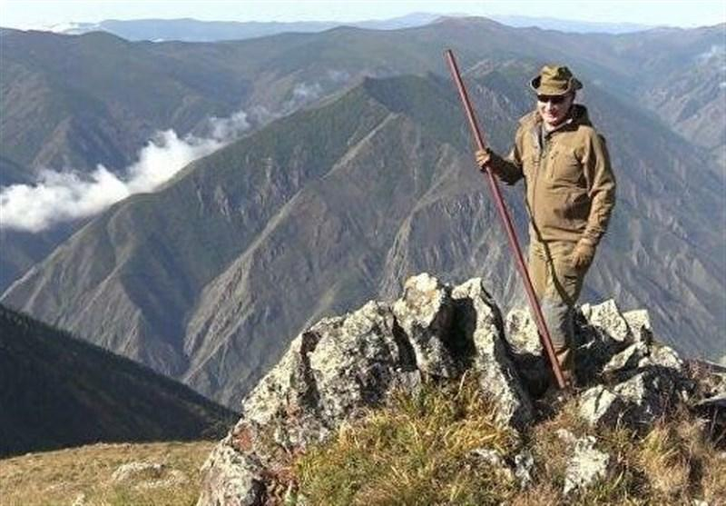 گردش پوتین در جنگل های سیبری