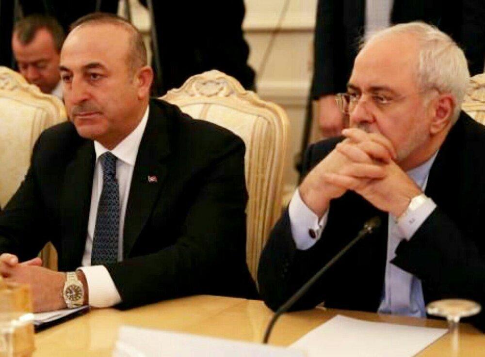 گفتگوی ظریف با چاووش اوغلو درباره حمله ترکیه به سوریه