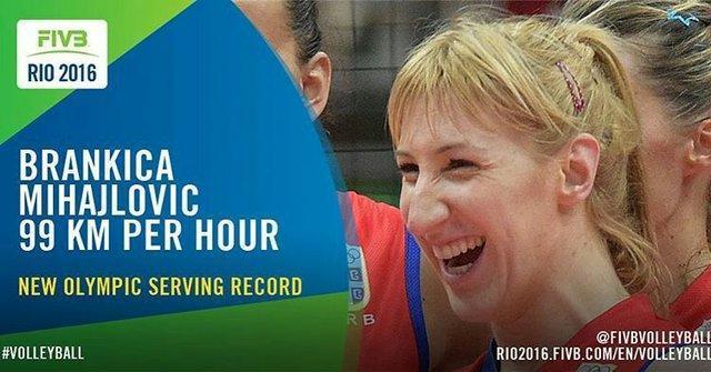 رکورد سرعت سرویس در والیبال المپیک شکست