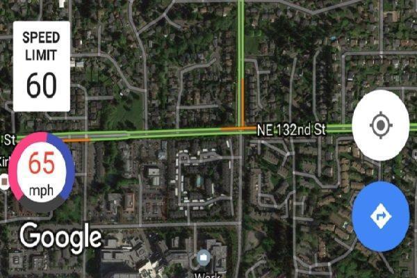 نمایش محدودیت سرعت و دوربین های سرعت سنج پلیس در نقشه های گوگل