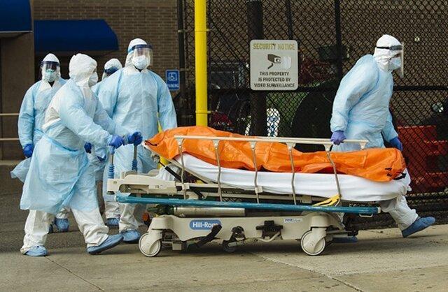 آمریکا از نظر شمار قربانیان کرونا صندلی دوم در دنیا را دارد