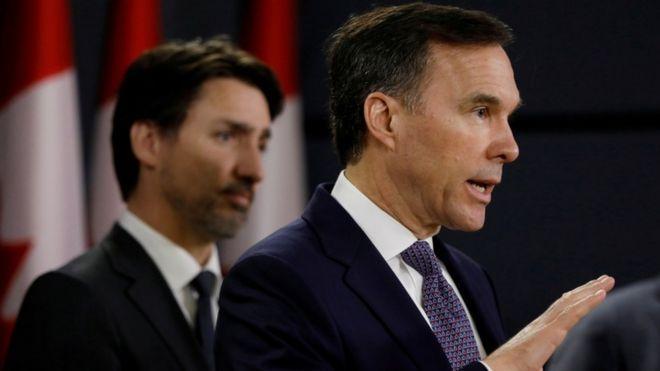 استعفای وزیر دارایی کانادا، دلیل: رسوایی مربوط به موسسه خیریه