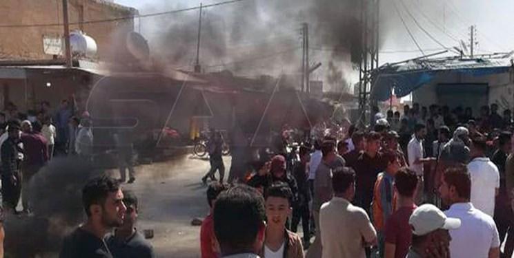 تظاهرات در شرق سوریه علیه شبه نظامیان تحت حمایت آمریکا