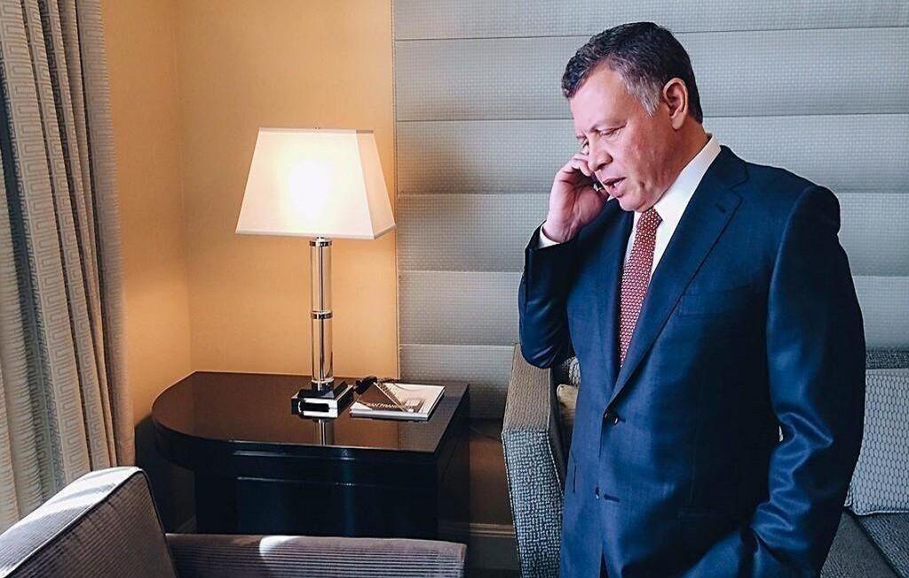 شاه اردن با جو بایدن گفت وگو کرد