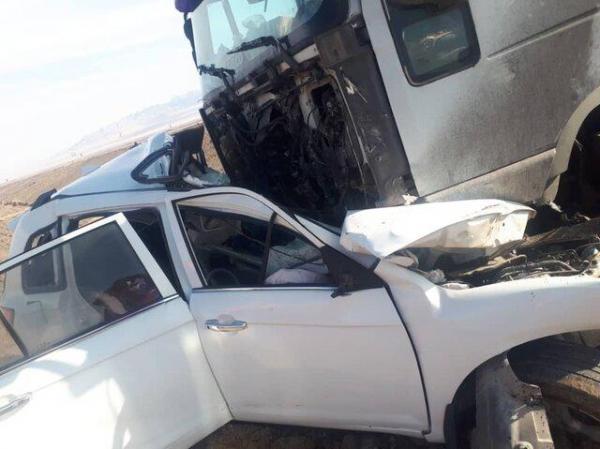 2 کشته و یک مصدوم در تصادف خونین خرانق