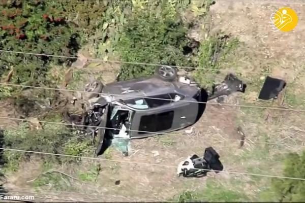 (تصاویر) حادثه رانندگی شدید برای تایگر وودز