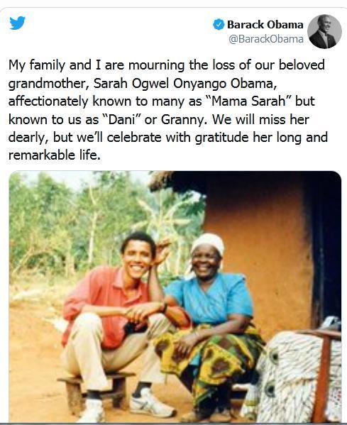 مادربزرگ باراک اوباما درگذشت