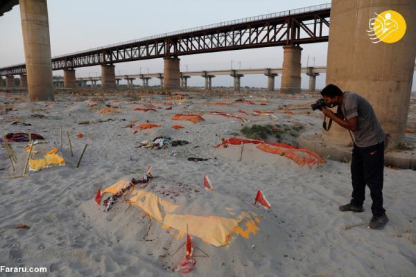 (تصاویر) بیرون آمدن اجساد کرونایی از قبر بر اثر بارش باران!