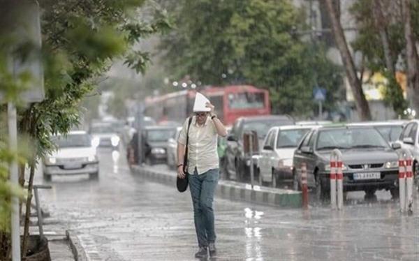 رگبار باران در 12 استان
